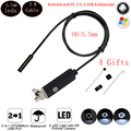 2M Cable 5.5mm 6 Leds IP67 Waterproof  Usb Endoscope Android OTG  Snake Tube Pipe 5cm 480P  Mini  Surveillance Inspection Camera