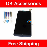 Black Color High Quality LCD Display Touch Screen For Alcatel OT7044 1PC Lot Free Shipping
