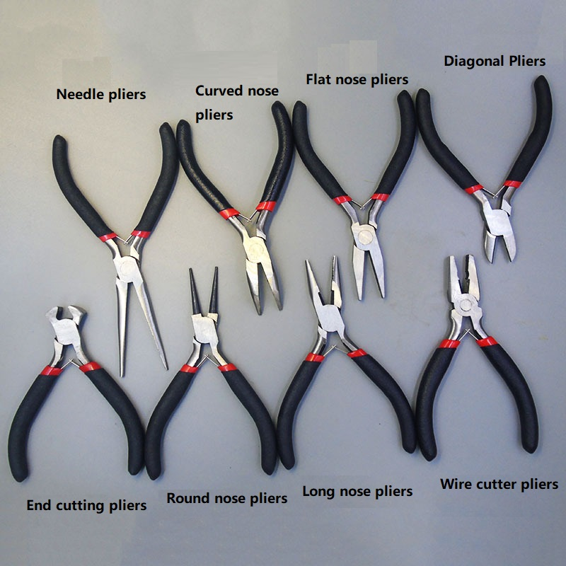 long-nose Floral Pliers Set flat-nose bent-nose wire cutter round-tip