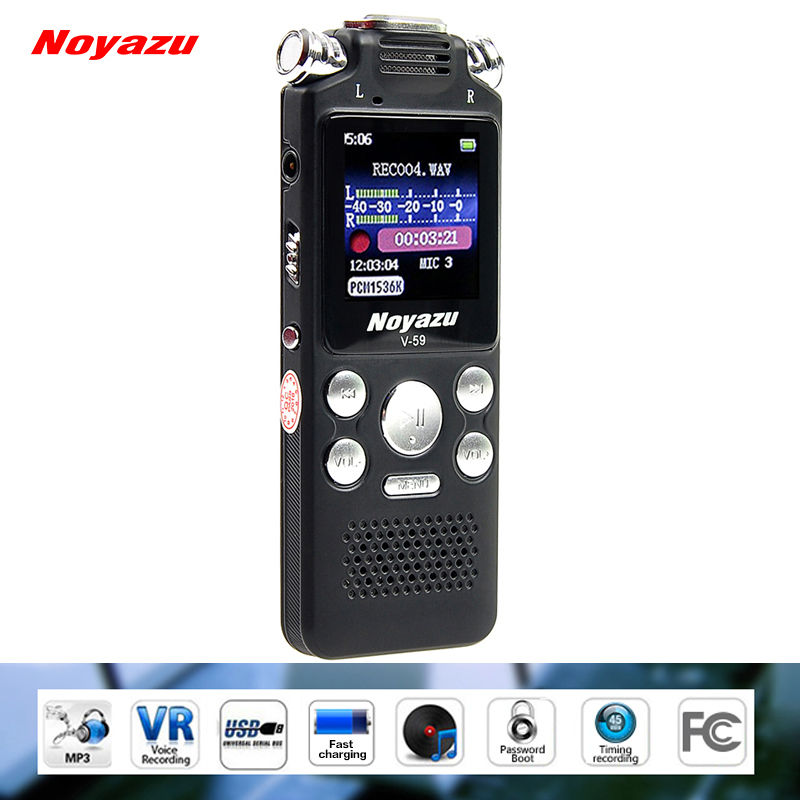 NOYAZU V59 8G Professional Digital Voice Recorder Pen Fast Charging WAV Record Audio Mini Audio Sound Voice Recorder Dictaphone