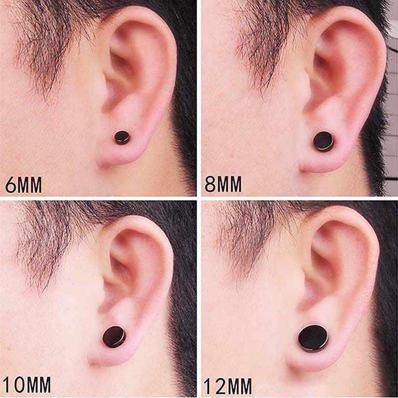 1 ชิ้น Punk Mens Strong แม่เหล็กแม่เหล็ก Ear Stud ชุดต่างหูต่างหูของขวัญสำหรับแฟน Lover เครื่องประดับ