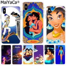 MaiYaCa Capa Aladdin y princesa Jasmine diseño Original funda de teléfono para Apple iPhone 8 7 6 6S Plus X XS X max 5 5S SE XR(China)