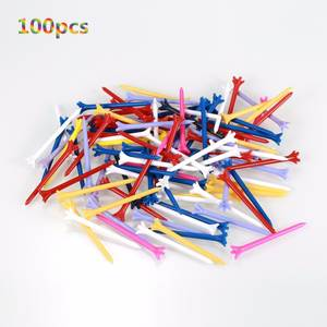 Golf-Tees Friction 83mm Plastic Zero Prong 5 100pcs/Pack Professional Durable