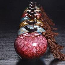 7 Farbe Crakle Glasur Teedose Keramik Tee Glas Porzellan Teedose Kostenloser Versand