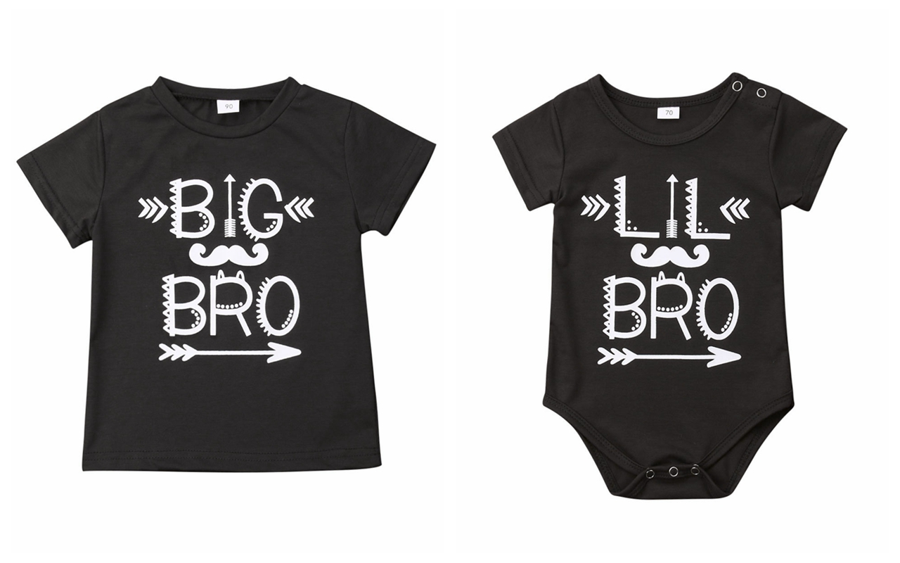 Emmababy T-Shirt Short-Sleeve Little-Outfit Baby-Boys Big Infant Letter Bodysuit