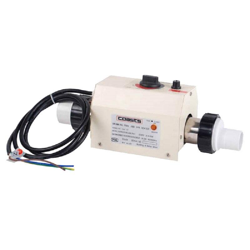 Accessoires de piscine Thermostat de chauffe-eau 3KW 220 V Thermostat de chauffe-eau électrique pour petite piscine et bain de SPA