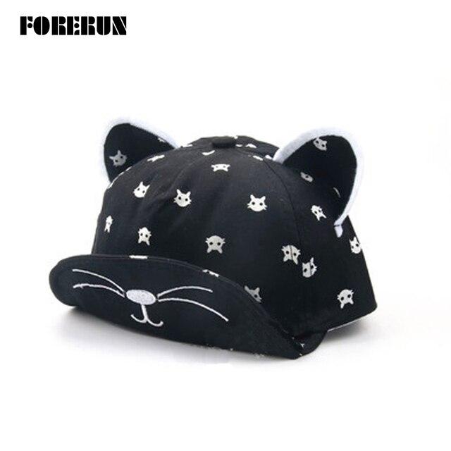 bcc8817ac131c 2018 nuevo bebé sombrero con orejas estrellas de la barba historieta Animal  del gato niños sombrero