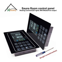 220V 110V 30A Acrylic panel  heater control sauna thermostat for dry sauna heaters 6kw