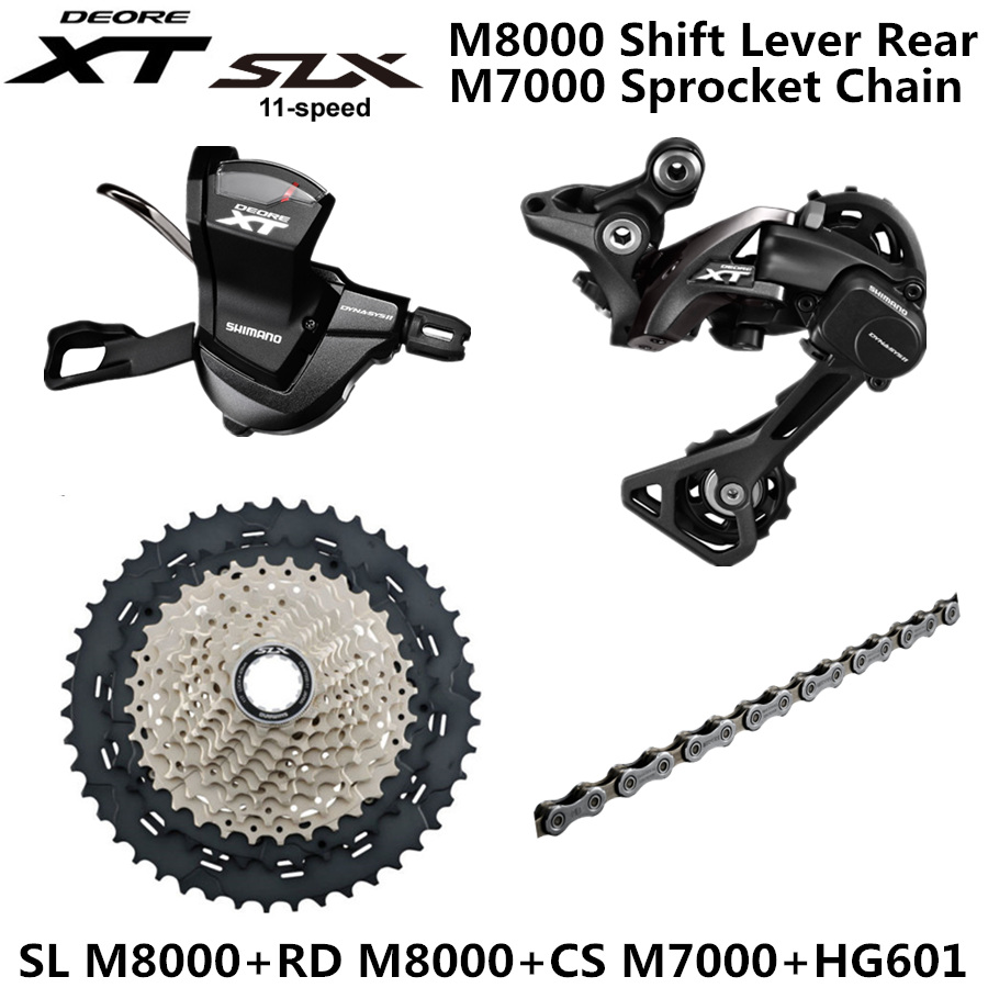 US $161 99 10% OFF|SHIMANO DEORE XT SLX M8000 Groupset MTB Mountain Bike  Groupset 1x11 Speed SL+RD+CS +CN 40T 42T 46T M8000 Shift Rear Derailleur-in