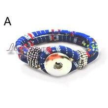 Bohemia Handmade Snap Button Bracelet Interchangeable Charm Jewelry For Women Men Fit 18mm snap button