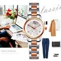 SINOBI Fashioh Women Wrist Watches Golden Watchband Top Brand Luxury Ladies Quartz Clock Female Bracelet watch Montres Femmes