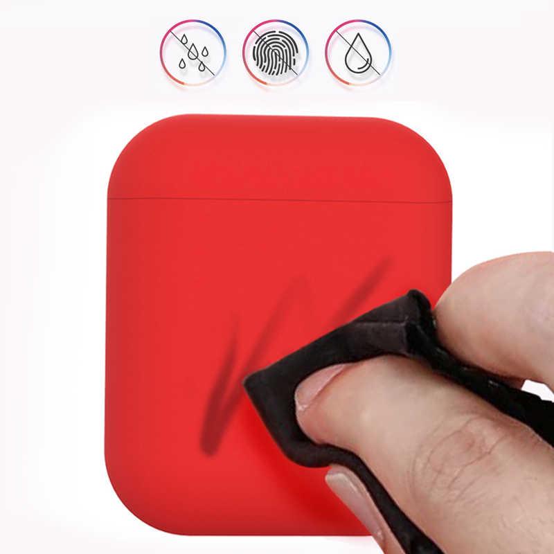 ヒットカラーソフトシリコン Tpu ケースアップル Airpods 保護カバー AirPods イヤホン空気ポッドヘッドホン分割カラーケース