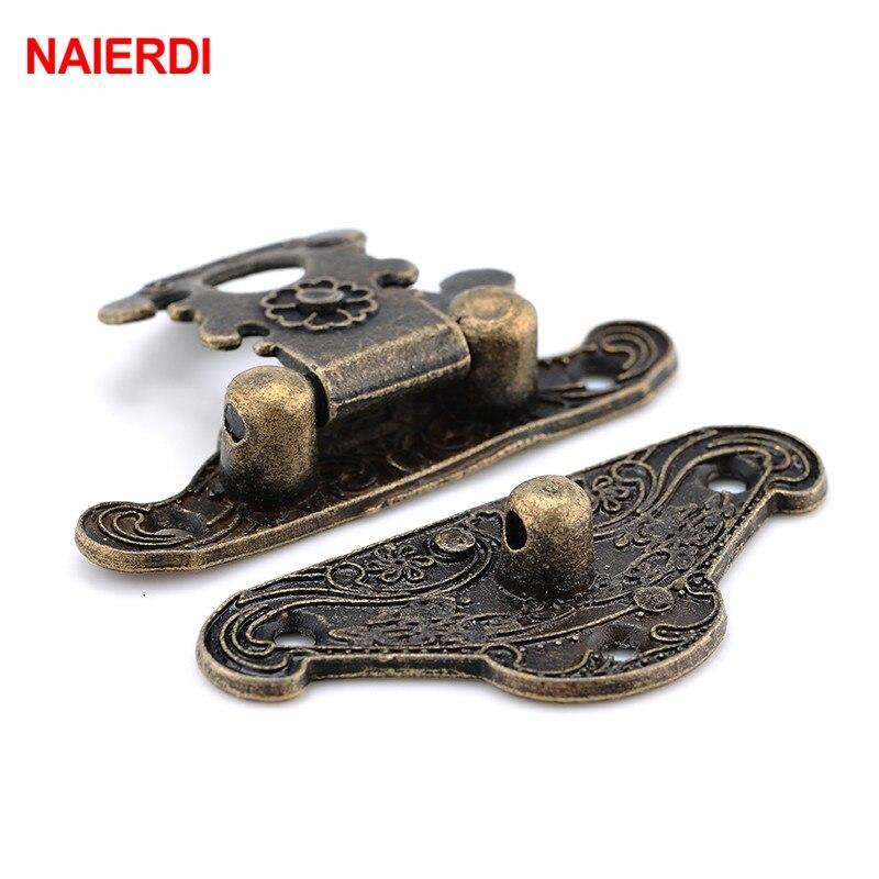 Hot Antique Bronze Jewelry Box Case Decorative Hasp Cabinet Hasp Hook Lock Latch