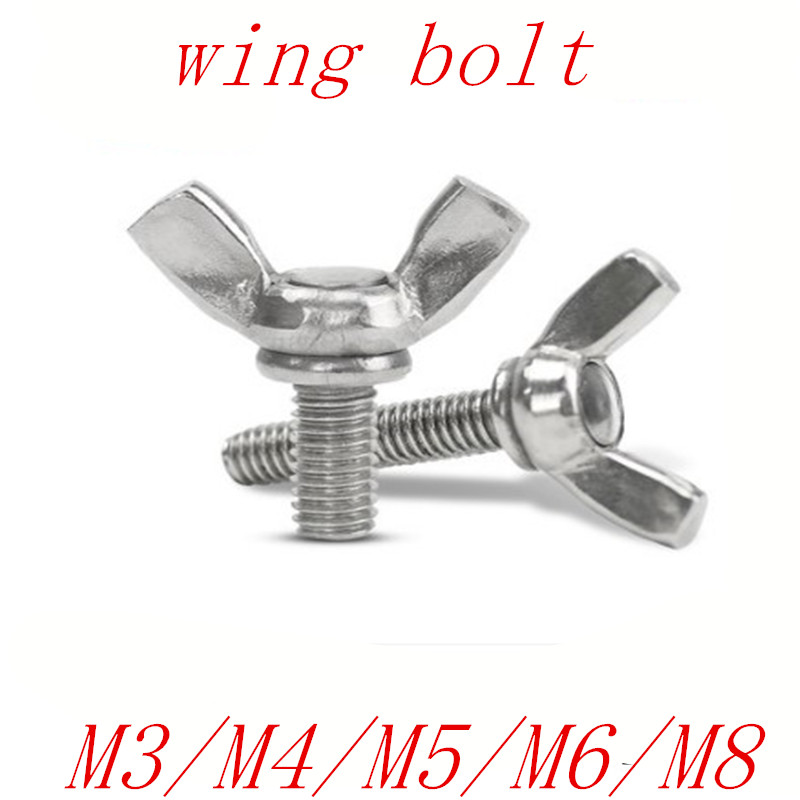 10PCS 5pcs 2pcs M3 M4 M5 M6 M8M3 M4 M5 M6 DIN316 Hand Tighten Screws Butterfly Bolt Wing Thumb Screw Claw A2-70 Stainless Steel