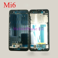 For Xiaomi MI6 M6 Mi 6 Front Middle Chasis Front Bezel Frame Housing Cover Mobile Phone Replacement Parts Black