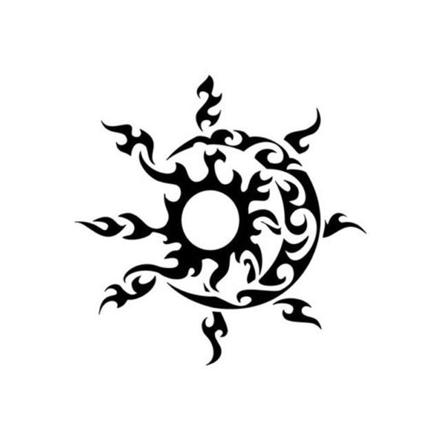 127127 Cm Tribal Sol Y Luna Personalizada Etiquetas De Coche