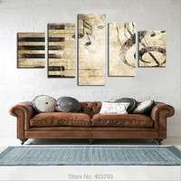 Large Wall Picture Piano Keys Music Note Home Decor Wall Art Painting No Frame Home Decoration