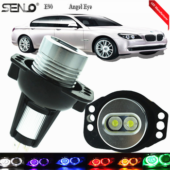 1 Pair White E90 LED Maker Angel Devil Eyes Car Modified Lamp 6000k 6 Watt Led Bulb For BMW E92 316i 318d 318i 328xi 330d 330i image