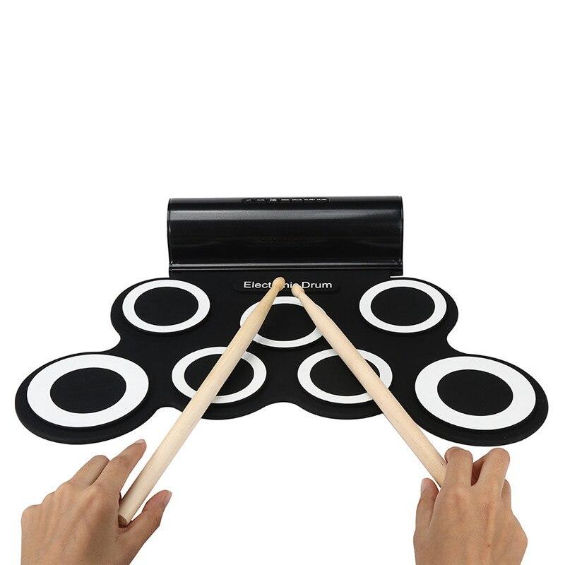Unter Der Voraussetzung Überlegene Qualität Silikon Tragbare Digitale Usb Midi Roll-up E-drum Set Pad Kit Mit Stick Und Fußpedal Heißer Verkauf Jan5 Produkte HeißEr Verkauf