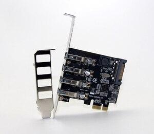 Image 2 - 4 Port USB 3.0 5 Gbps Pci express X1 Kartı Adaptörü HUB için Düşük Profilli Braketi Destekler