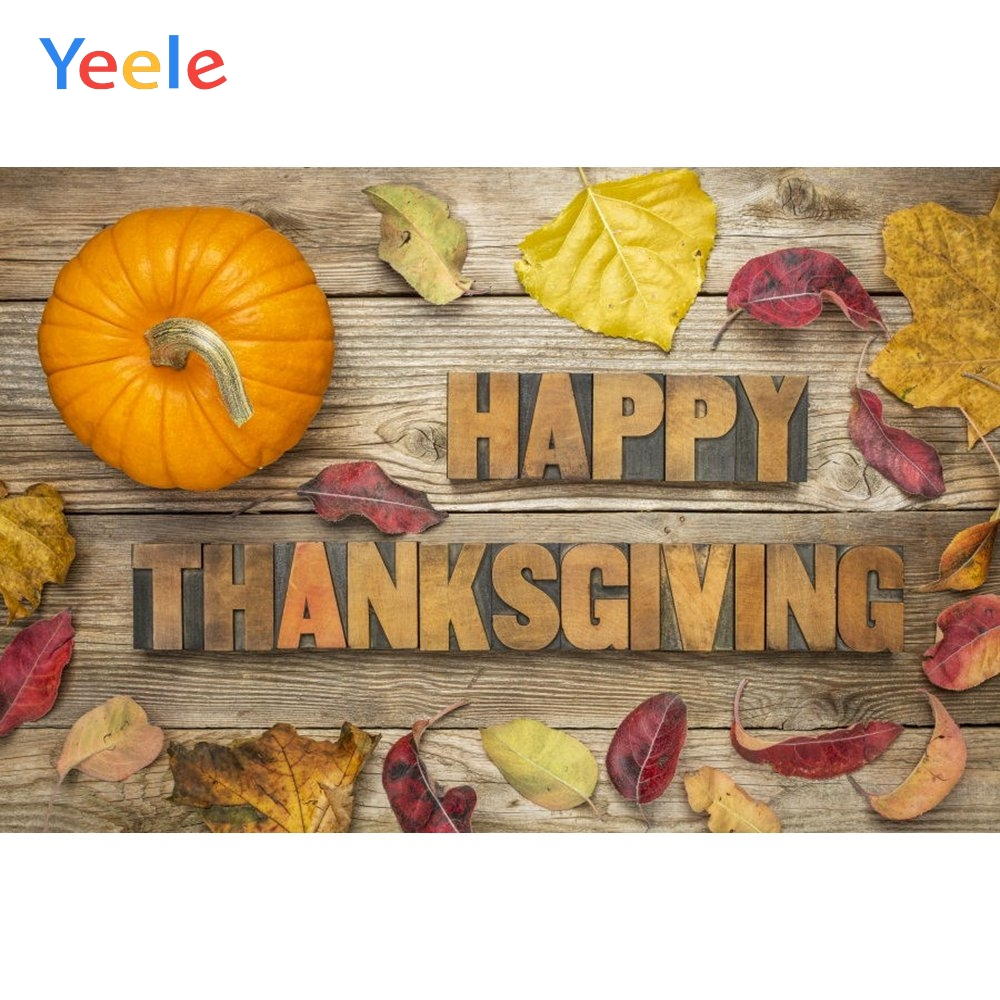 Yeele Autumn Harvest Pumpkin Leaves Photography Background Baby Happy Thanksgiving Day Photocall Backdrop For Photo Studio in Background from Consumer Electronics