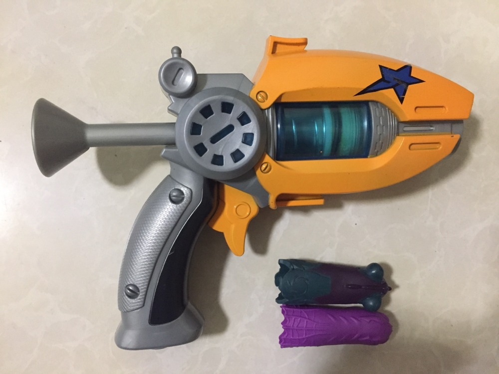22cm Blue Orange Blue Generation 1 Slugterra Gun Toy With 3 Bullets 1 Slug-terra Doll Boy Pistol Gun D12