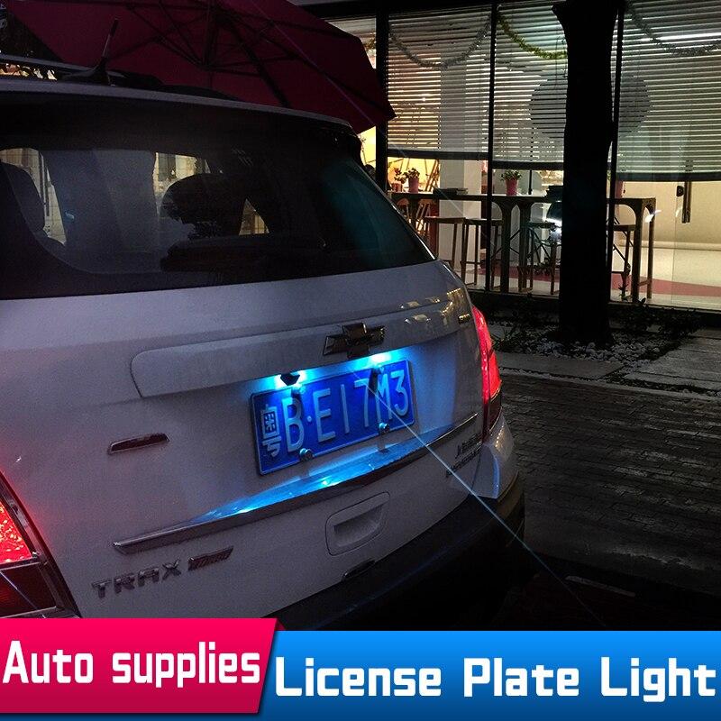 Автомобиль-Стайлинг несколько Цвет 2 шт. светодиодный авто номерной знак лампы для Chevrolet Cruze Малибу светодиод ампулы <font><b>Voiture</b></font>