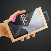 IPhone 6 s için 4.7-inç Ambalaj Özelleştirilebilir 50 Adet/takım Kraft Kağıt Paketi kutu için iPhone 6 s/Samsung Galaxy J5 Kılıfları-siyah