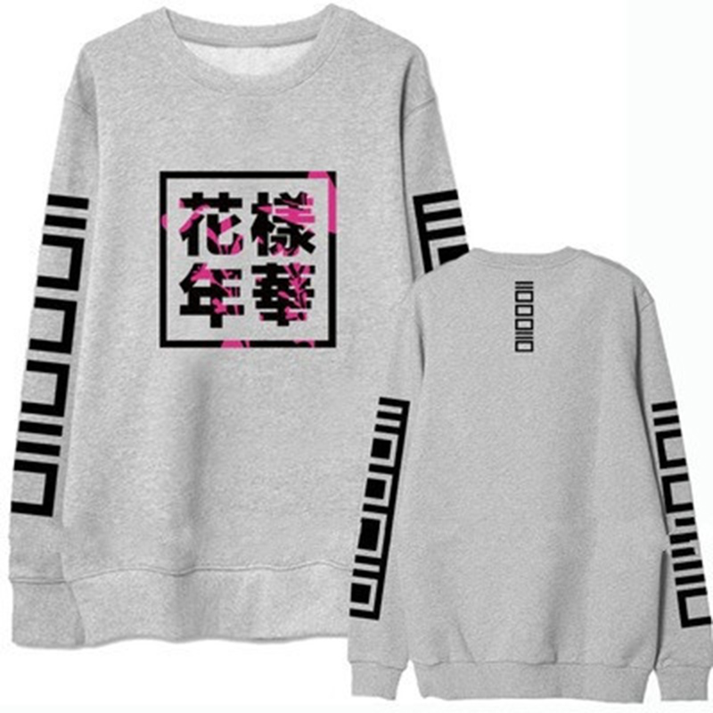 9b9e4e3b2e 2018 Spring Autumn Bangtan Boys Album Fans Women Hoodies Fashion Clothing  Casual Chinese Letters Printed Women Hoodies MC 322-in Hoodies    Sweatshirts from ...