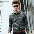 Vogue Anmi.2016 Man Casual Camouflage Shirt Men Cotton Army Green Combat Dress Shirts Military Camo Camp Mens long sleeve