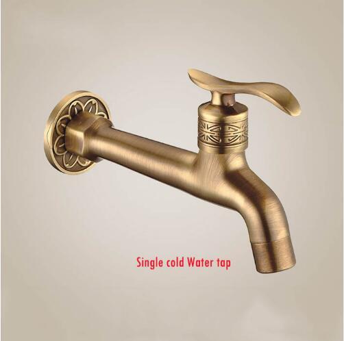 Hot sale Antique Brass Bibcock, Outdoor Faucet, Brass Decorative Garden Tap/washing Machine Water Mixer Tap Free Shipping