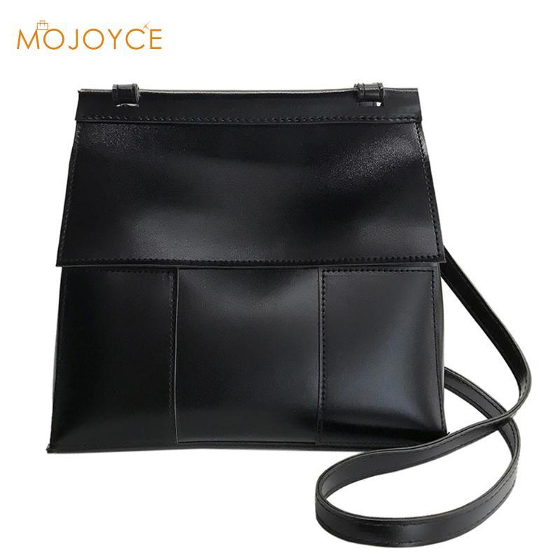 2018 Fashion Women Messenger Bags PU Leather Flap Mini Shoulder Bags Bolsas Feminina Simple Vintage Females Crossbody Bags Purse