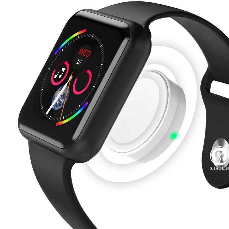 Reloj inteligente Bluetooth serie 4 SmartWatch para Apple iOS iPhone Xiaomi HUAWEIAndroid teléfono inteligente no reloj de Apple (botón rojo) - 2