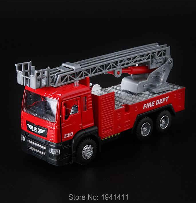 Klasik Anak-anak Mobil Mainan Paduan Suara dan Cahaya Kendaraan Teknik Sampah Truk Tipper Truck Mixer Panas Dijual