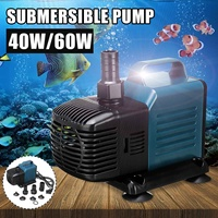 Aquarium Water Pump 40W 60W Fish Tank Water Submersible Pump Pool Waterfall Fountain Seafood Pumps for Inner Circulation Filter