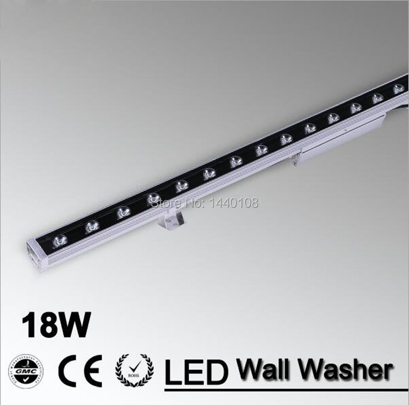 ФОТО 10pcs/lot  Fedex DHL square flood outdoor 18W LED Wall Washer landscape light wash Lamp 110v 120v 220v 230v 240v