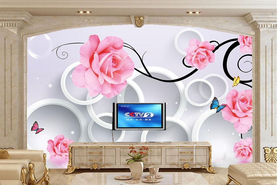 large 3d murals chinese great wall wallpaper papel de parede restaurant living room sofa tv wall bedroom wall papers home decor Large murals,Rose circle drops reflection 3d butterfly wallpaper,living room tv sofa wall bedroom 3d wallpaper papel de parede