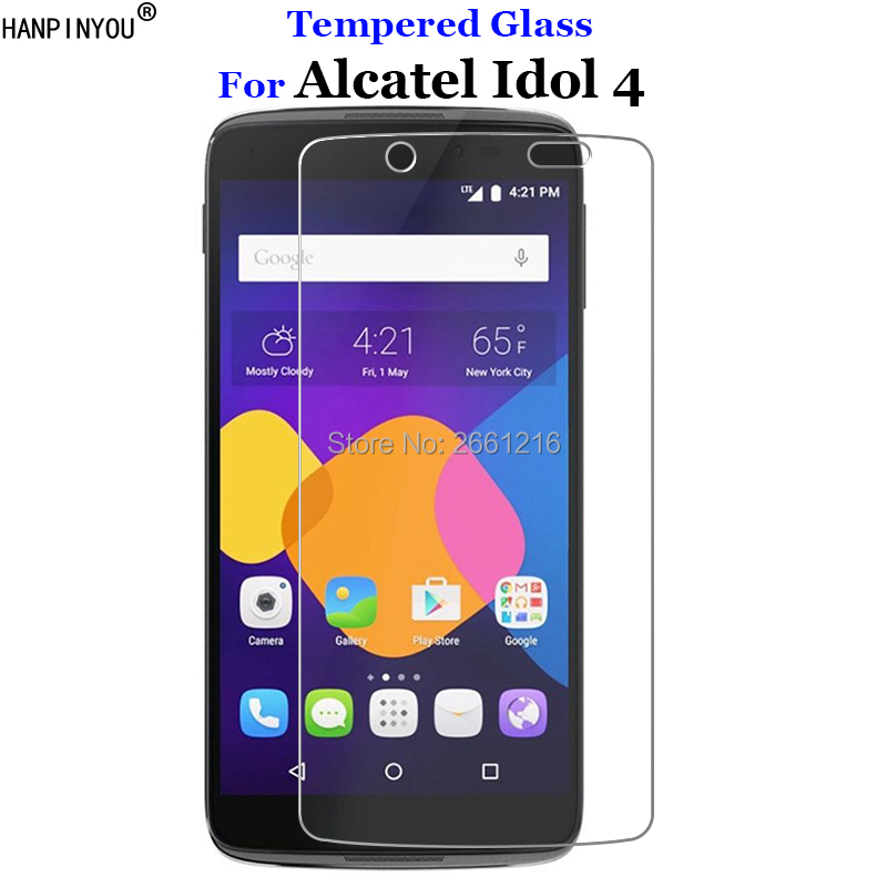 For Alcatel Idol4 Tempered Glass 9H 2.5D Premium Screen Protector Film For Alcatel One Touch Idol 4 6055K 6055P 6055B 5.2