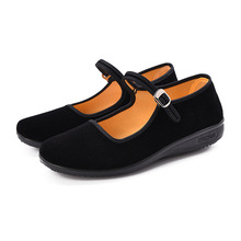 New 2019 Mary Janes Ladies Flats Buckle Strap Comfortable Women Shoes Round Toe Solid Casual Shoes Plus Size 34~41 Black Loafers цены онлайн