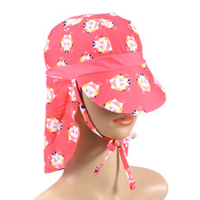 Sun Protection UV Protection Swim Hat Ear Neck Protection Beach Hat Swim Hat Flap Hat Sun Hat for Children Kids(China)