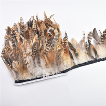 10Meters/Lot Natural Rooster Chinchilla Cock Saddle Pheasant Feather Trim 10~15cm(4~6inch)Wedding Feathers for Crafts DIY Plumas недорого