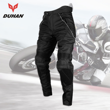 цены DUHAN Motorcycle Pants Men Moto Trousers Racing Windproof Motocross Riding Sports Pants With Removable Protector Guards