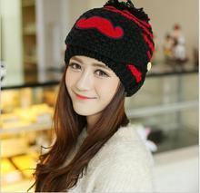 5 pieces lot 2017 Winter Striped Knitted Face Mask Hats Beanies Beard masks thickened knit hats