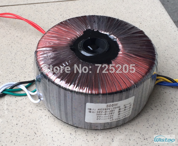 IWISTAO Toroidal Transformer 500W HIFI Audio Amplifier Dedicated AC 36 V (3 group) AC 12V (2 group) Pure Copper Amp DIY iwistao 300w toroidal transformer hifi power amplifier dedicated pure copper wire dual 33v