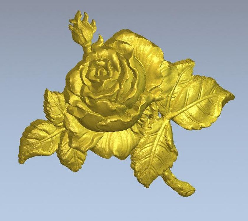 3d Model Relief  For Cnc In STL File Format Flower_13