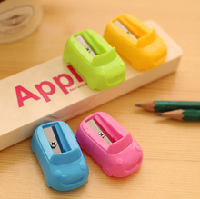 4pcs Mix Color Cute Car Mini Pencil Sharpener Cutter Rolling Pen Knife Kids Children Student Stationery School Supplies(China)