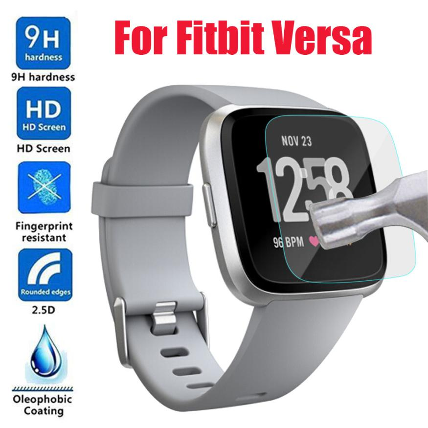 HD Tempered Glass LCD Screen Protector Film For Fitbit Versa fitness tracker fitness bracelet fitness watch activity tracker