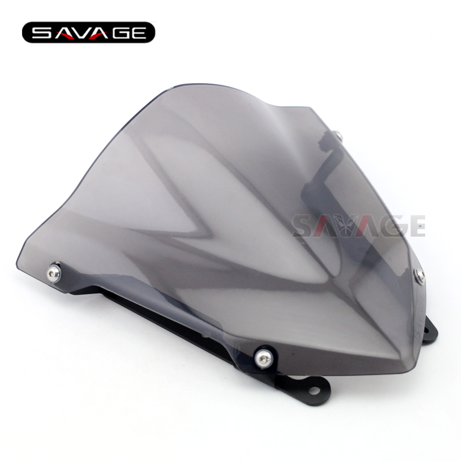 Windshield Windscreen For YAMAHA MT07 MT-07 FZ-07 FZ07 2014 2015 2016 2017 Motorcycle Accessories Pare-brise Wind Deflectors