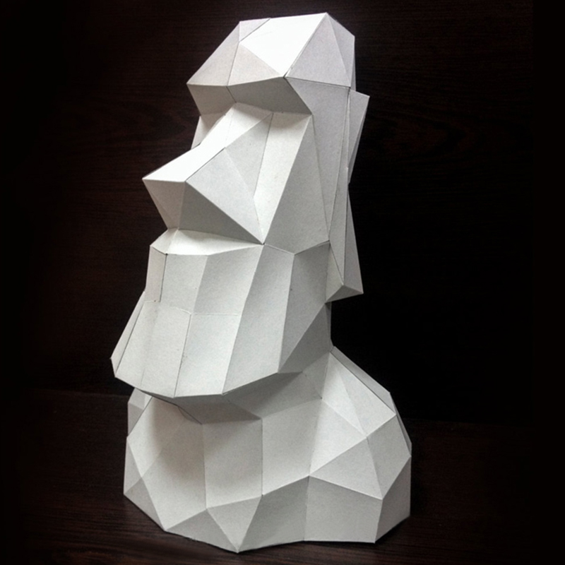 DIY Home Decoration Easter Statue Figure Paper Model Puzzles Toy For Restaurants Store Bar Waterproof Educational Folding Model