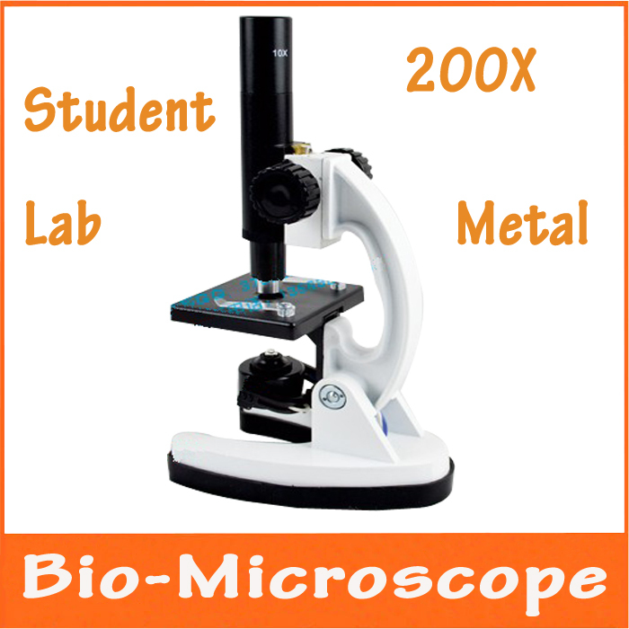 200X Metal Illuminated Light Monocular Head Bio-Microscope Educational Children Student Lab Use Biological Microscope with Lamp 75x 945x vertical monocular head biological microscope with huygenian eyepiece 15x txs01 07